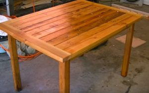 garden table woodworking plans