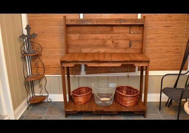 Build A Garden Potting Work Table For Free Out Of Old Wood Pallets