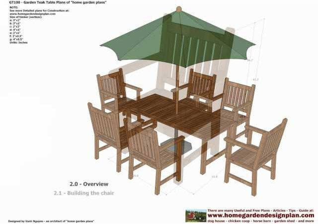 Garden Furniture Plans gt100 – garden teak table woodworking plans – outdoor furniture