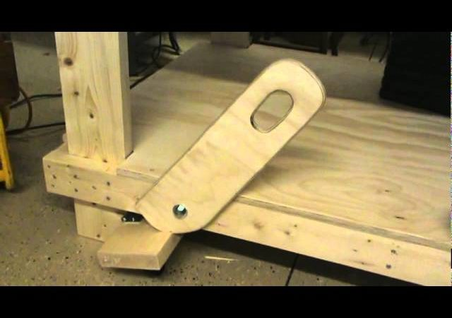 Retractable Work Table Wheels Woodwork Projects Plans