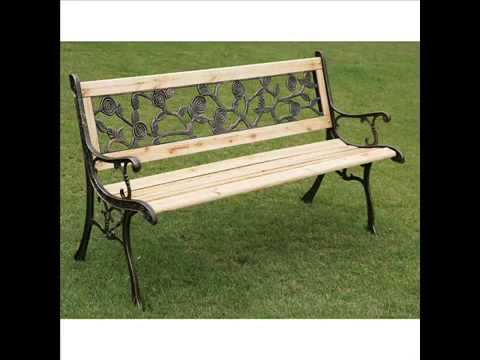 Garden Bench I Garden Bench Metal And Wood Garten Bank I Gartenbank Metall  Und Holz