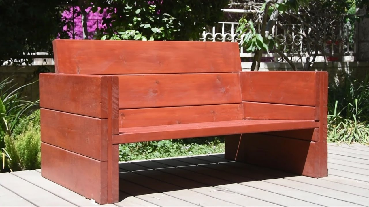 Bulding A Garden Bench & Woodworking