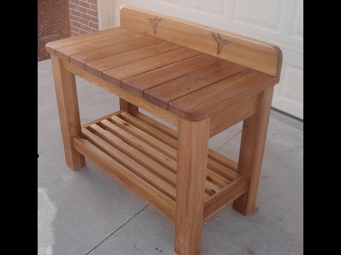 DIY/ Cedar Garden Bench/Table