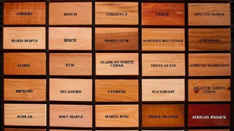 wood color identification chart